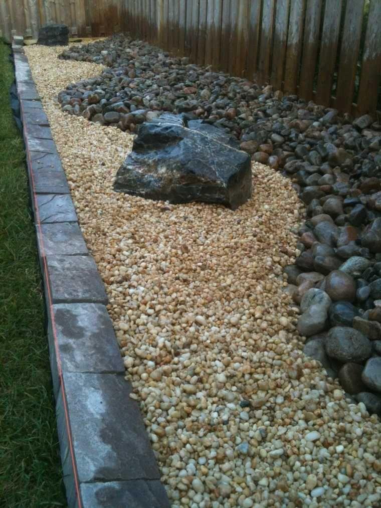dco de jardin intressante avec des galets