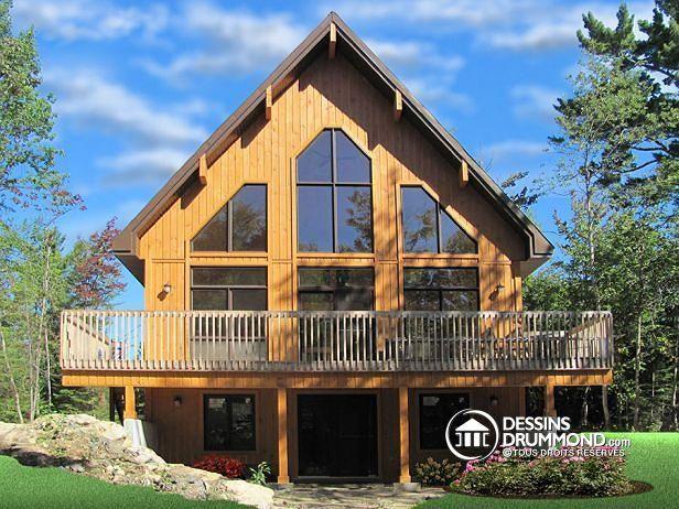 W3938 - Chalet 4-saison, panoramique, 3 chambres, espace ouvert - liste materiaux construction maison