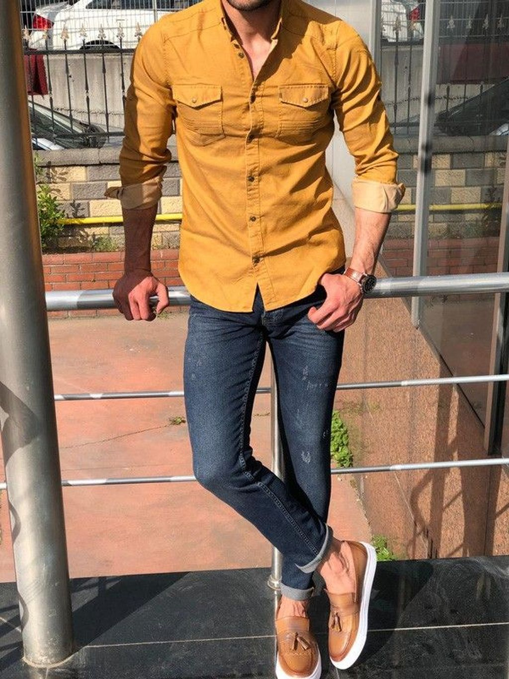 40 Gorgeous Men Outfits Ideas With Jeans For Any Season Shirt Outfit Men Mens Fashion Jeans Mens Casual Outfits [ 1365 x 1024 Pixel ]