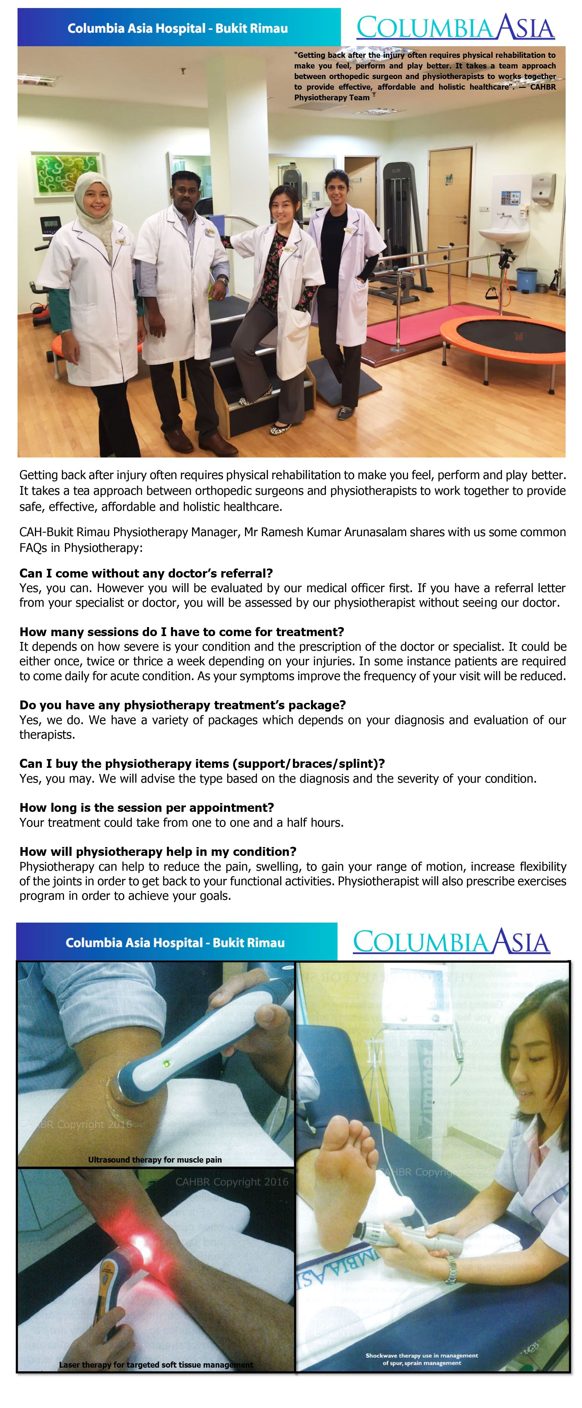 Columbia Asia Medical Centre Design Interior Jpg 1 000 1: Physiotherapy Manager Of Columbia