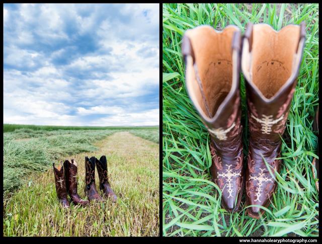Cowboy boots as your wedding shoes, for a western rustic wedding.   Zach & Chelcee Wedding -- Joseph & Enterprise, Oregon   Hannah O'Leary