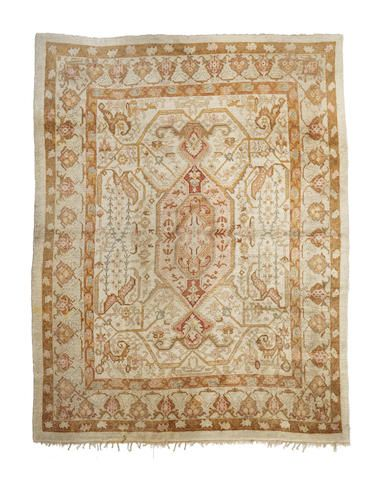 Oushak Carpet West Anatolia Dimensions Approximately 13ft 10in X 11ft 8in 419 X 356cm