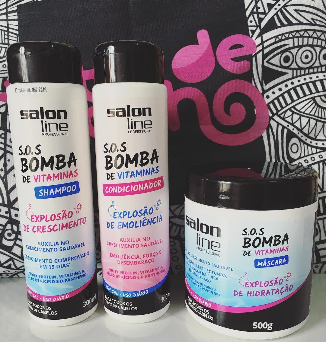 Recebi da salon line a nova linha sos bomba de vitaminas for Salon line bomba
