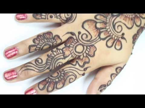 Henna Mehndi S : How to draw arabic henna mehndi design diy flower