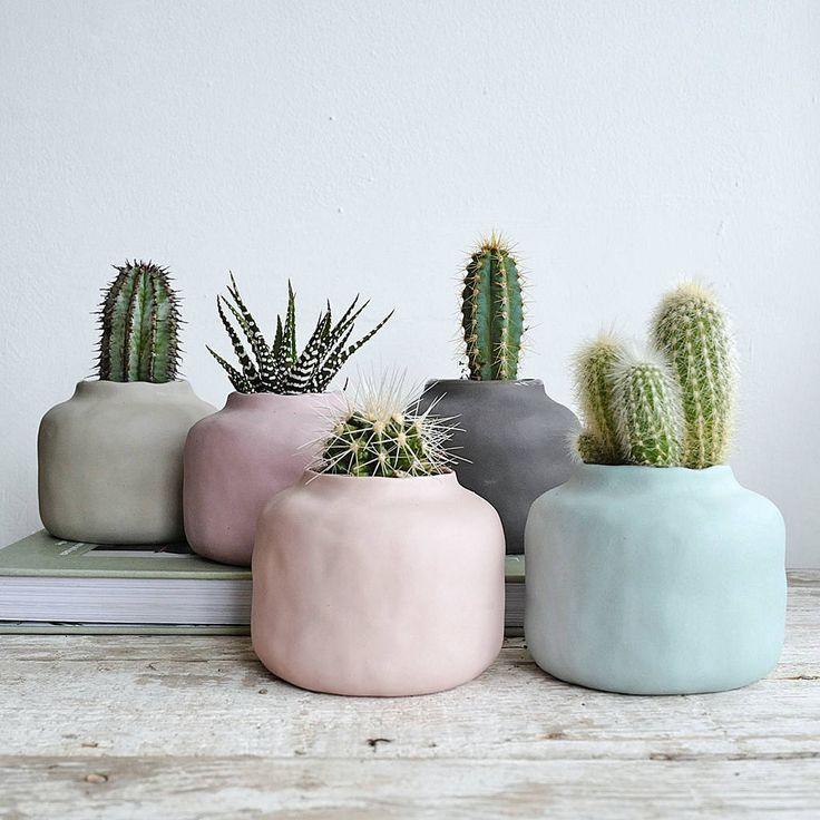 Muted Pastel Porcelain Vase Pot DIY clay