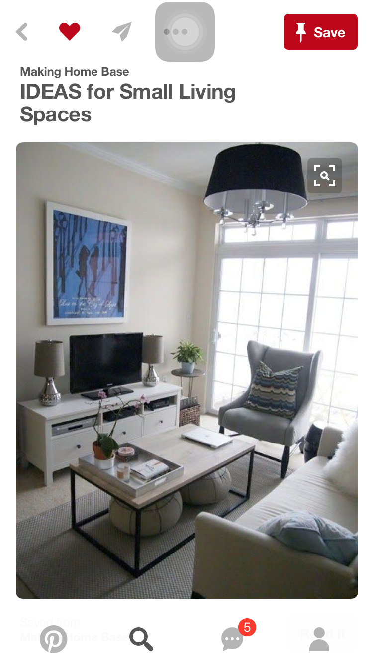 How to arrange a very small living room pin by diana gutierrez on new apartment  pinterest  apartments