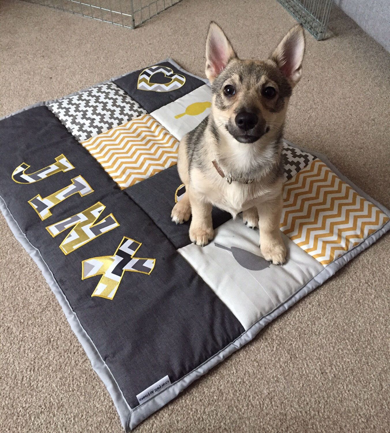 A Personal Favourite From My Etsy Shop Https Www Etsy Com Uk Listing 518162006 Personalised Patchwork Quilt Diy Dog Blankets Dog Quilts Baby Patchwork Quilt