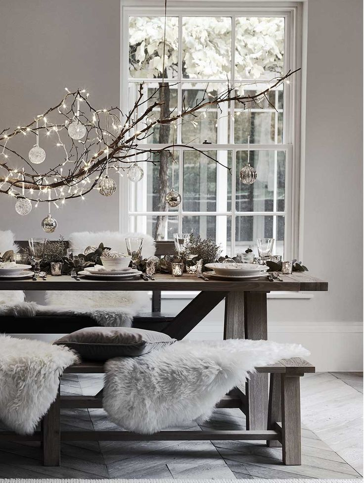 Scandinavian Christmas Setting With Lights And Ornaments So This Year Savour Every Moment Of The Weeks That P Christmas Interiors Scandi Christmas Home Decor