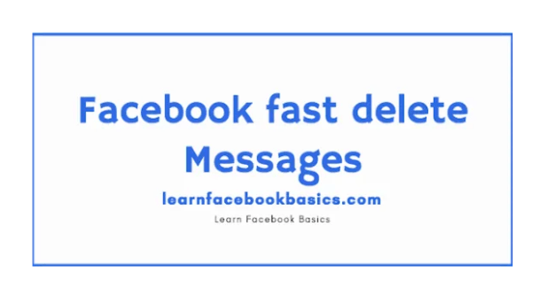 How to Quickly Delete all Facebook Messenger Messages