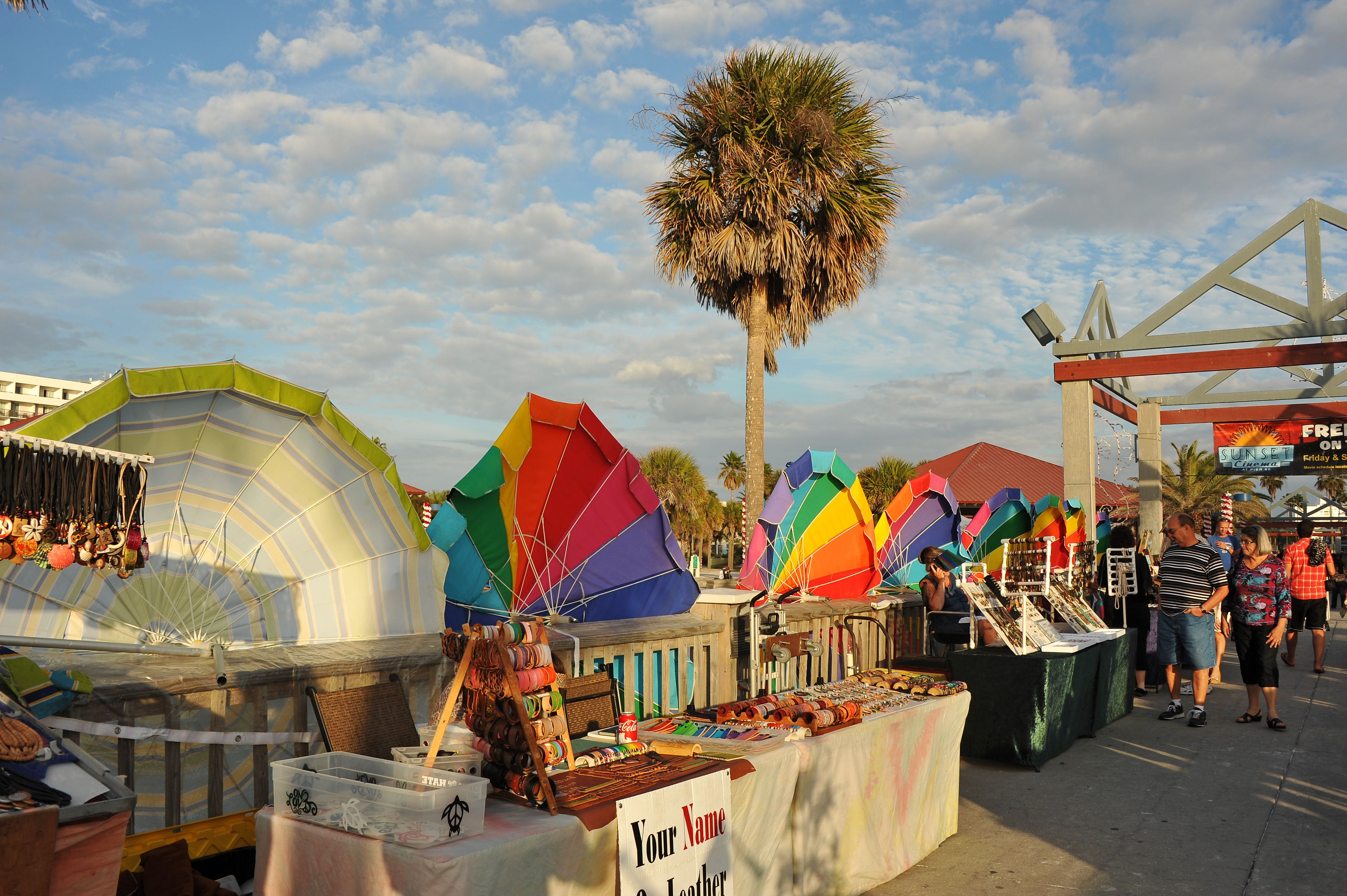 head to pier 60 park in clearwater beach nightly festival to