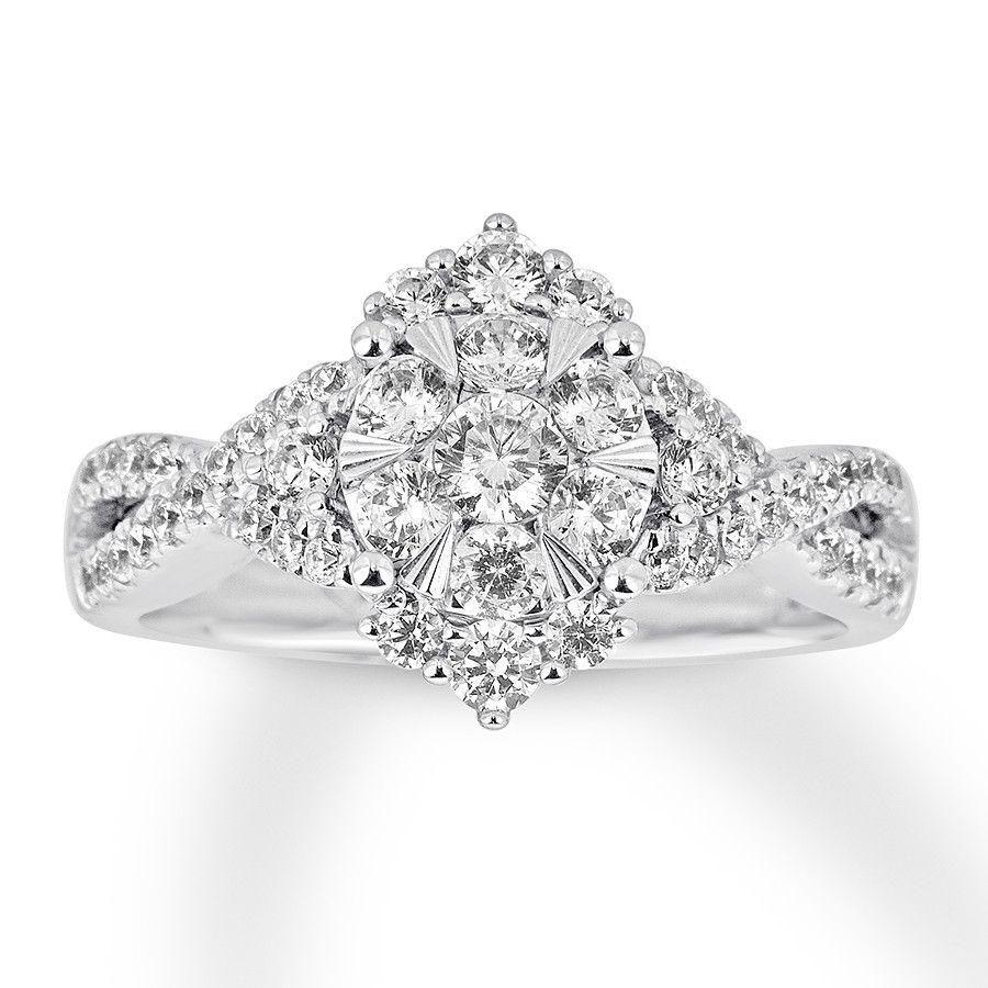Kay - Diamond Engagement Ring 1 Carat tw 14K White Gold ...