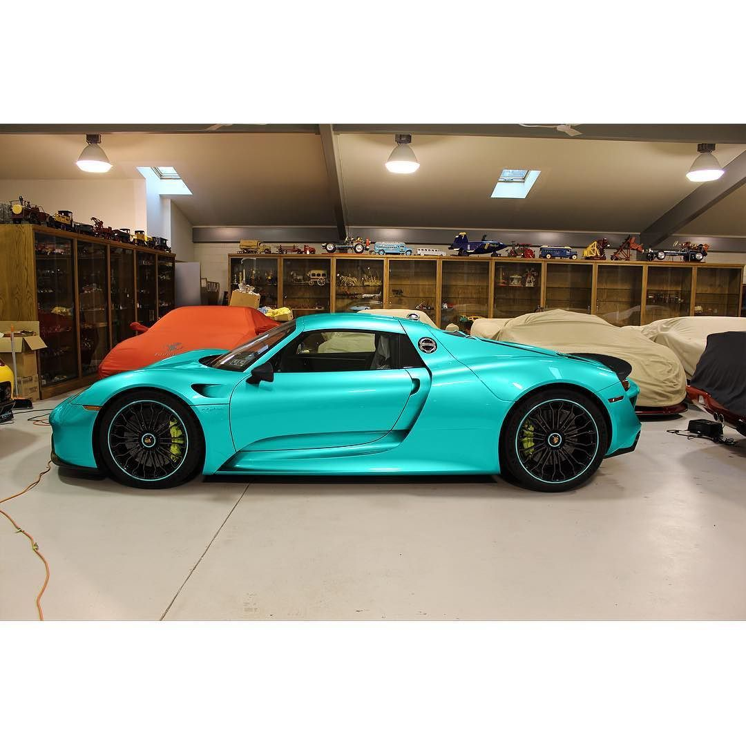 Repost via Instagram: A BRGB (British Racing Green Blue) Porsche 918 ...