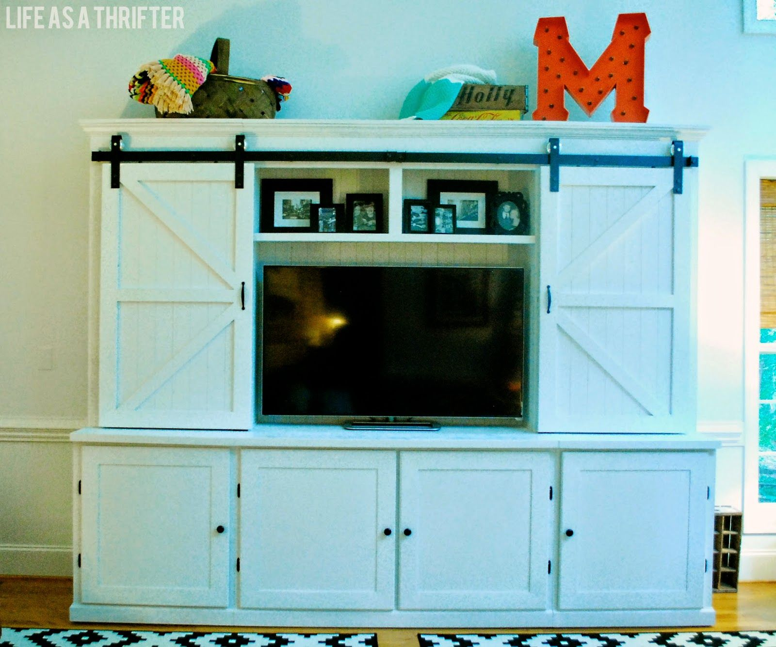 Life As A Thrifter: Awesome Cabinet With Sliding Barn