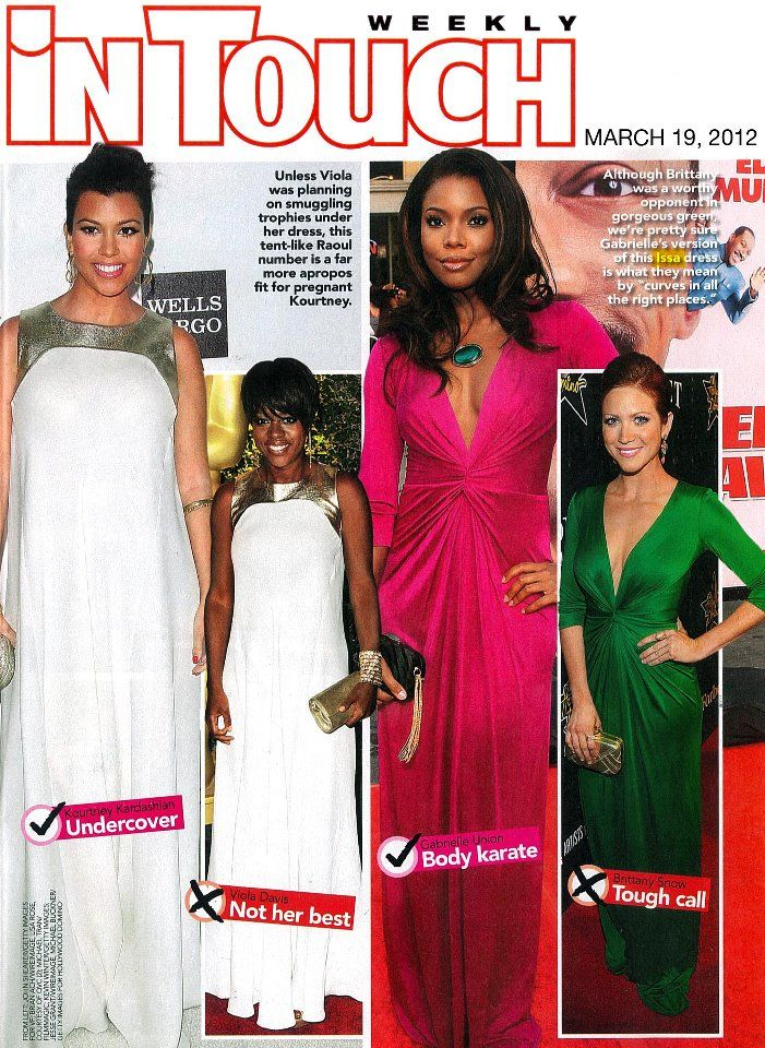 Gabrielle Union and Brittany Snow both wore Issa London dresses featured in InTouch Weekly!