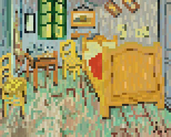 Pixel art 35 by jaebum joo, via Behance La Chambre de Van Gogh à - Description De La Chambre De Van Gogh