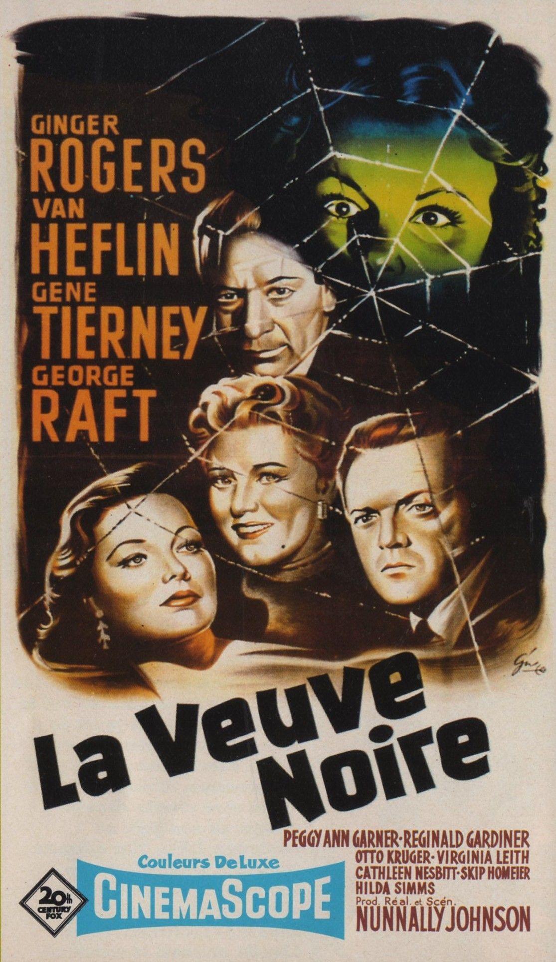 La Veuve Noire Film 1954 : veuve, noire, Veuve, Noire, (Black, Widow), (1954), (Gene, Tierney), #Poster, #WannaSee, Noire,, Affiche, Film,