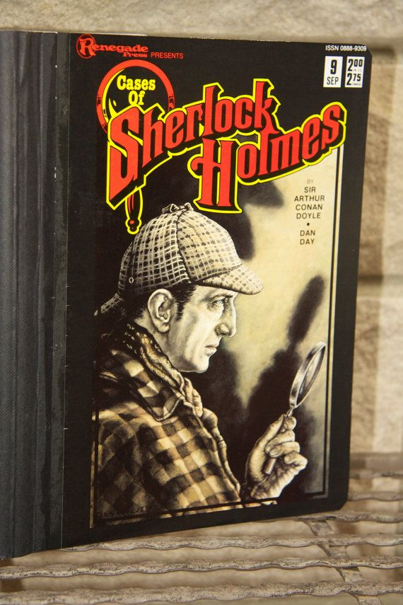 Vintage Sherlock Holmes and Watson Comic by ColleenAndCohort, 15.00
