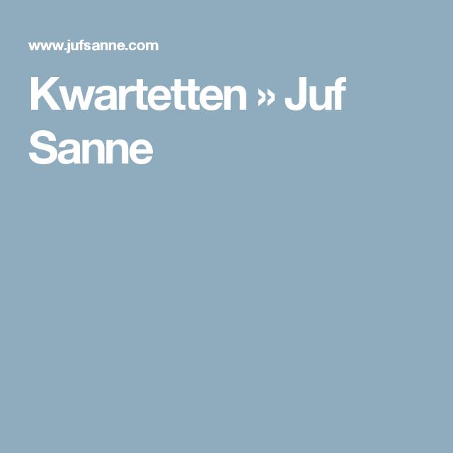 Kwartetten » Juf Sanne