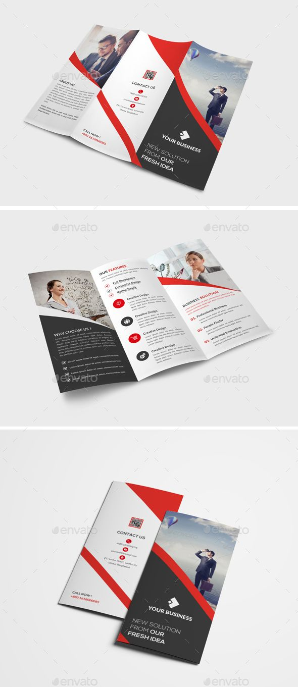 Trifold Brochure Ai Illustrator Brochure Template And Brochures - Brochure template illustrator