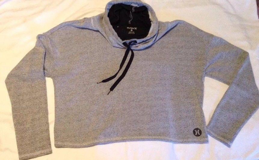 Euc hurley nike drifit womens cowl pullover hoodie