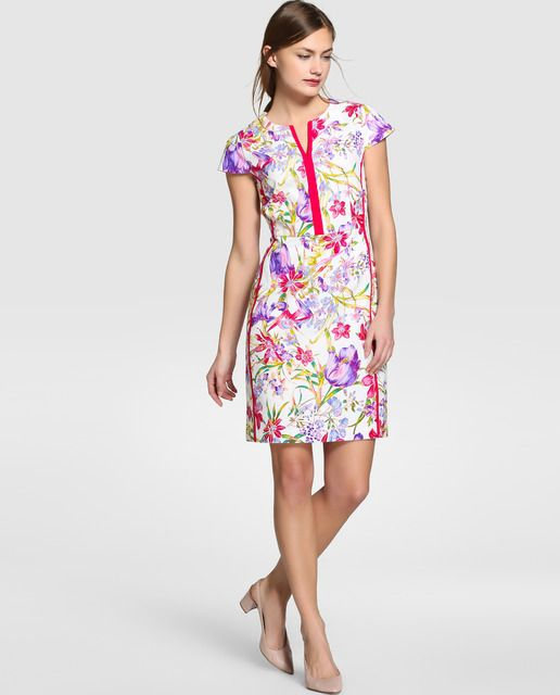 58c132f61 Vestido corto de mujer Antea con estampado floral