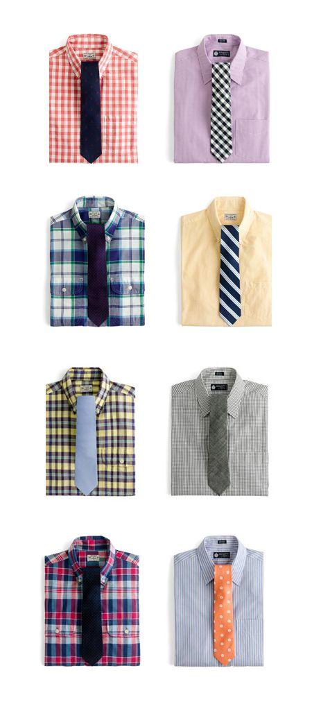 J.Crew shirts and ties | Wardrobe | Pinterest | Crew shirt ...