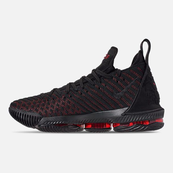 best sneakers ccd82 ef059 ... switzerland left view of mens nike lebron 16 basketball shoes in black  university red 8f28c 94f73