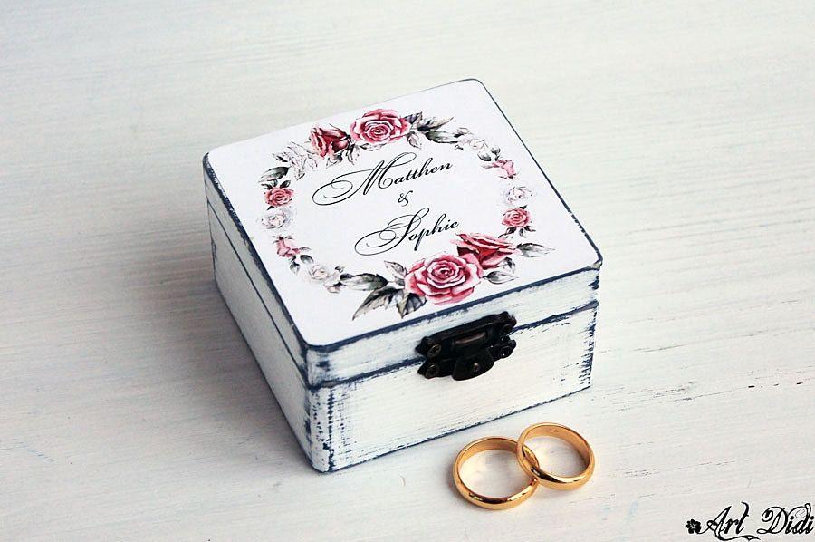 Oak wood ring box Ring plate for wedding ceremony Handmade ring box Unique wedding ring box Engraved ring plate Custom made ring box