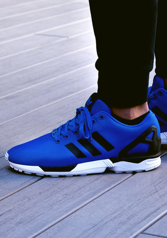 Cheap Brand Blue Mens Adidas Zx Flux 20 Suede Lightweight Running Shoes