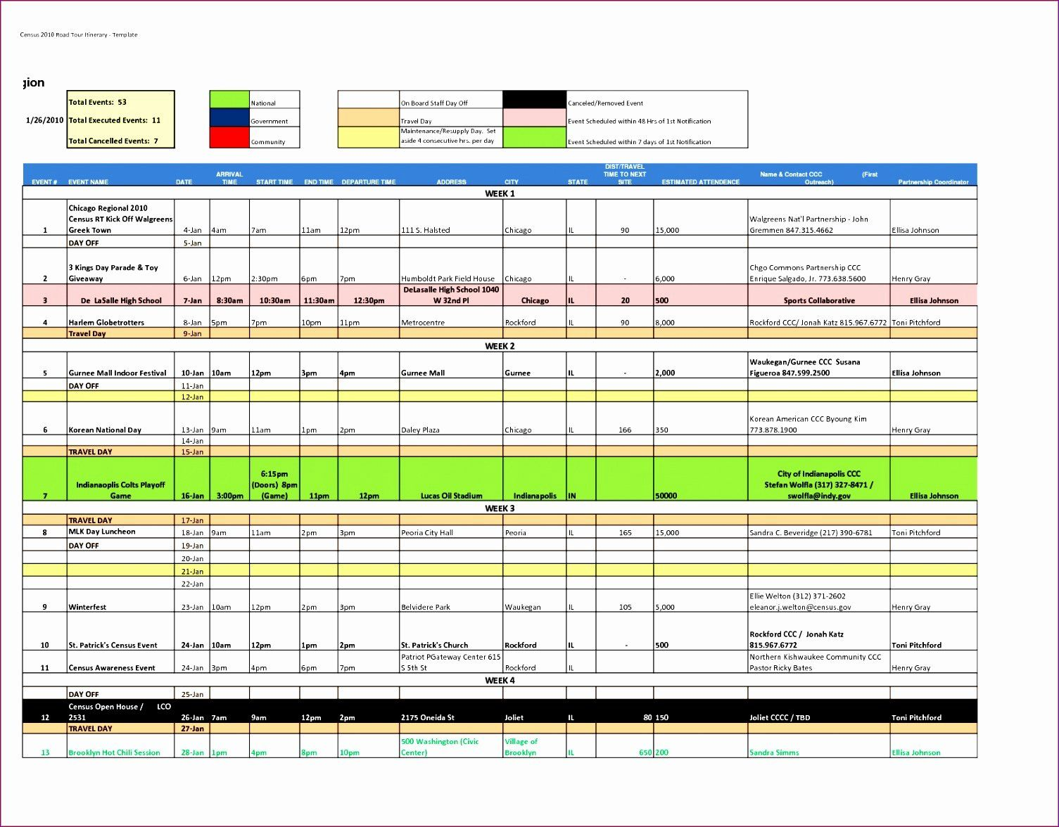 30 100 Day Plan Template Excel in 2020 Itinerary