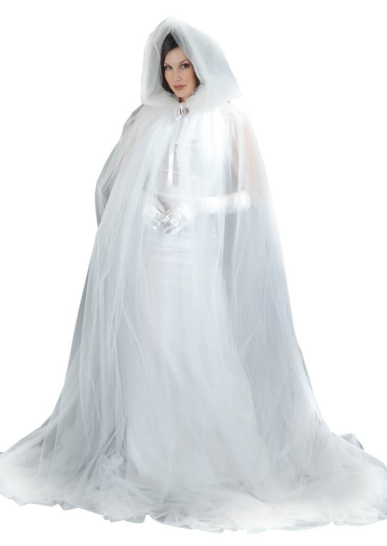 White Ghost Adult Costume Cape