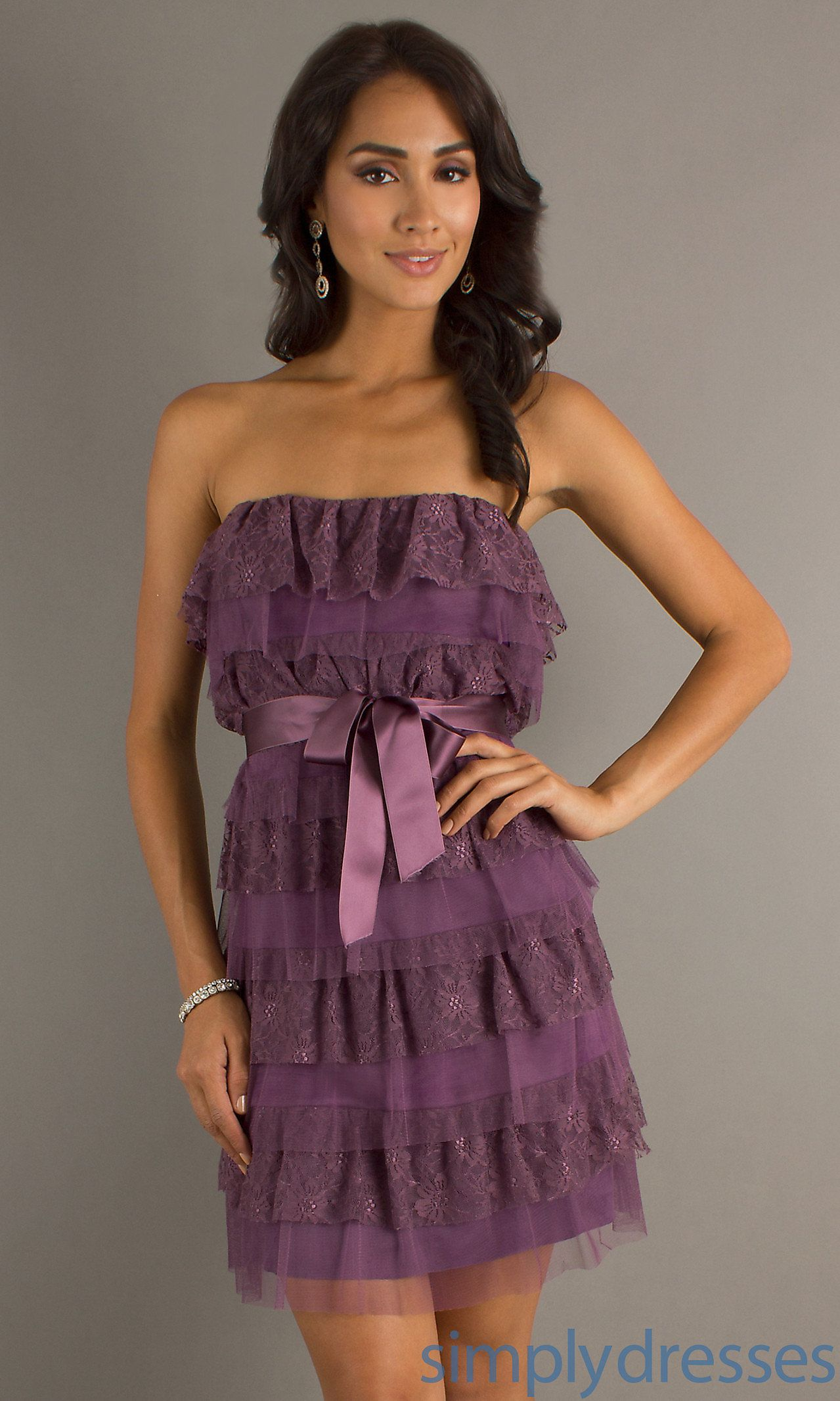 Short Strapless Tiered Dress AS-I635661g1 | Maybe one day ...