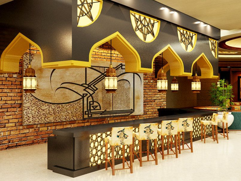 History Interior Design Furniture ~ Modern islamic restaurant proposal syrian returant