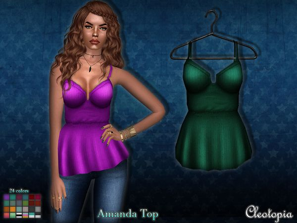 Amanda Top by Cleotopia at TSR via Sims 4 Updates  Check more at http://sims4updates.net/clothing/amanda-top-by-cleotopia-at-tsr/