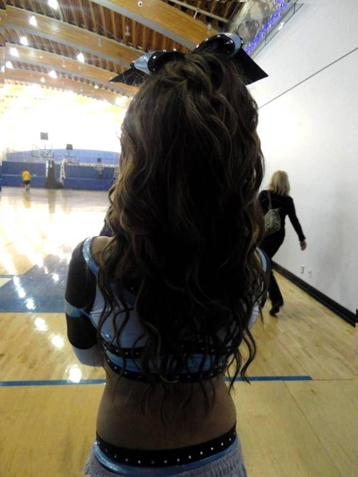 Cute And Beautiful Cheer Hairstyles   Cheer hair ...