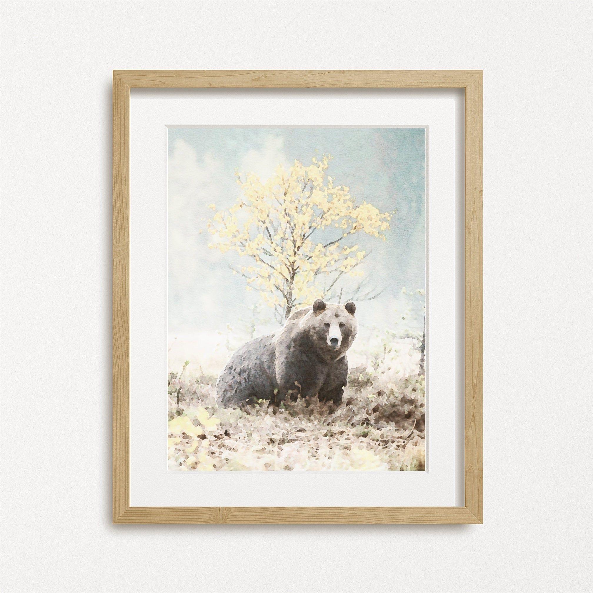 Watercolor Bear Print Forest Animal Art Print Wildlife Art Etsy In 2020 Wildlife Art Animal Art Animal Art Prints