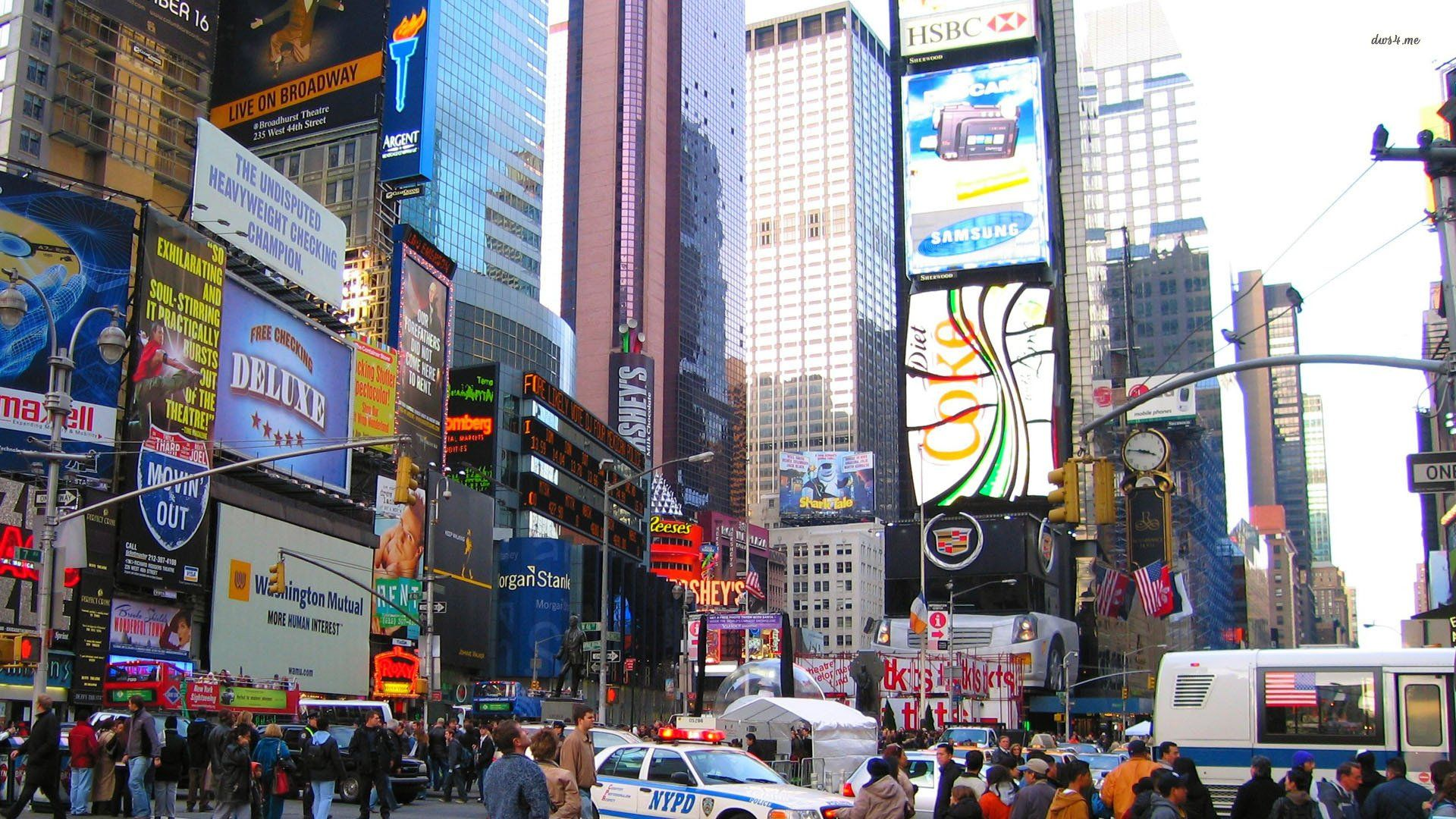 New York City Time Square Hd Wallpaper Times Square New York Times Square New York Wallpaper