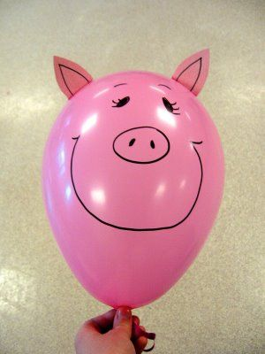 diy pig balloons party time birthdays craft and