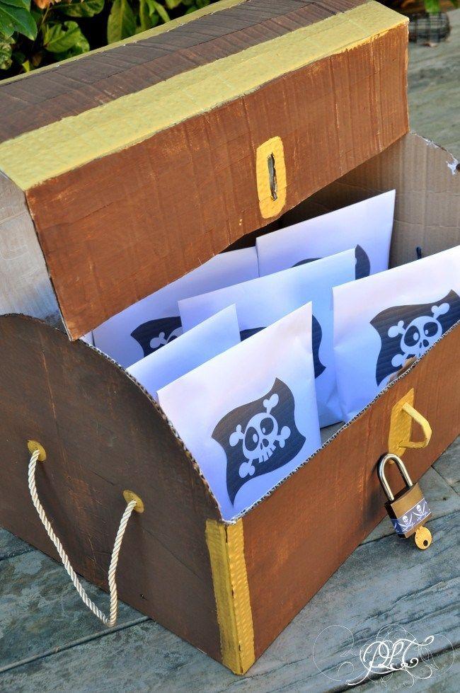 …de créer #30 : Anniversaire Pirate / Le coffre à trésor