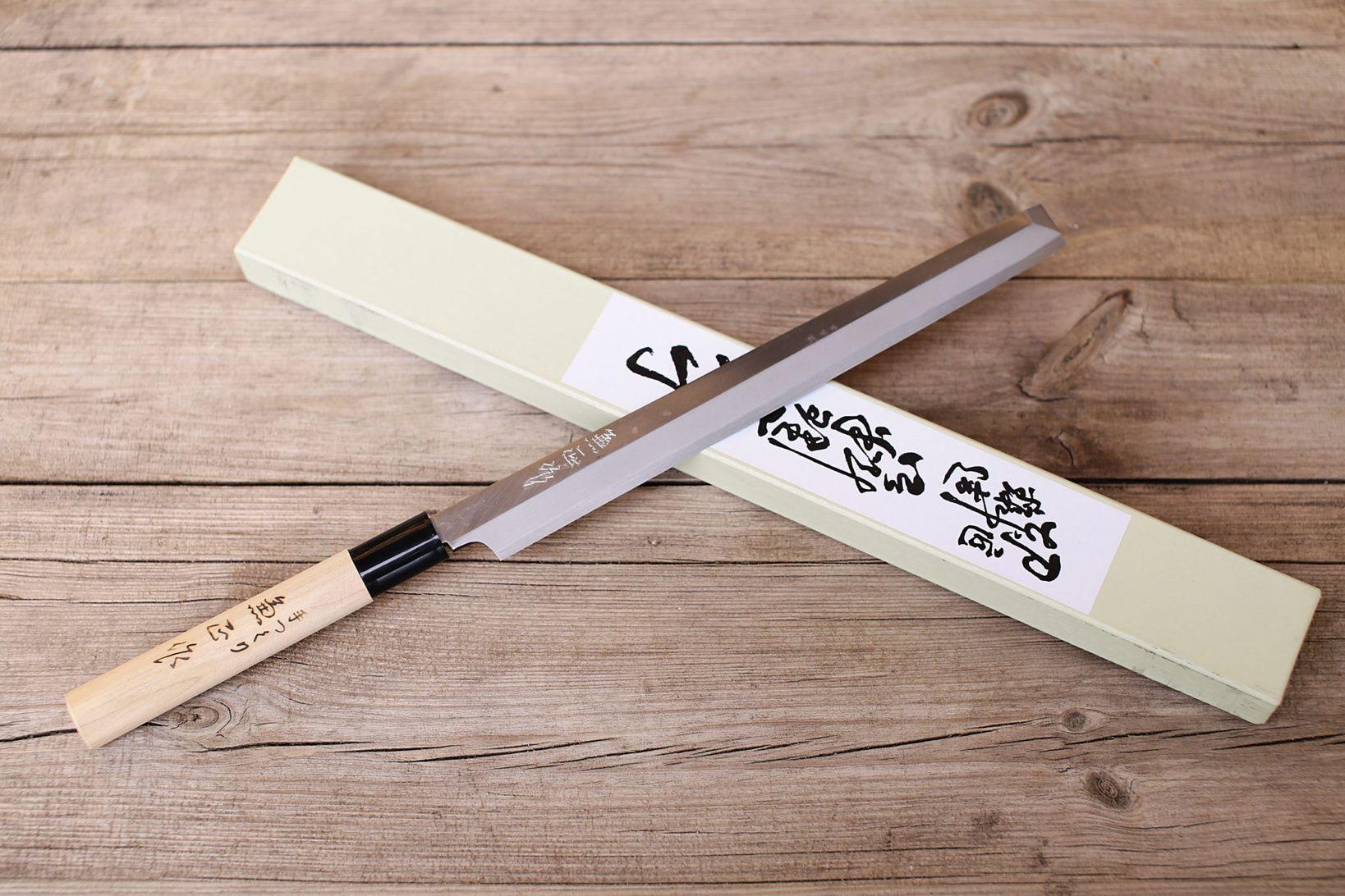 Kanetsune Minamoto Kanemasa Takobiki 270mm White Steel! What is the ...