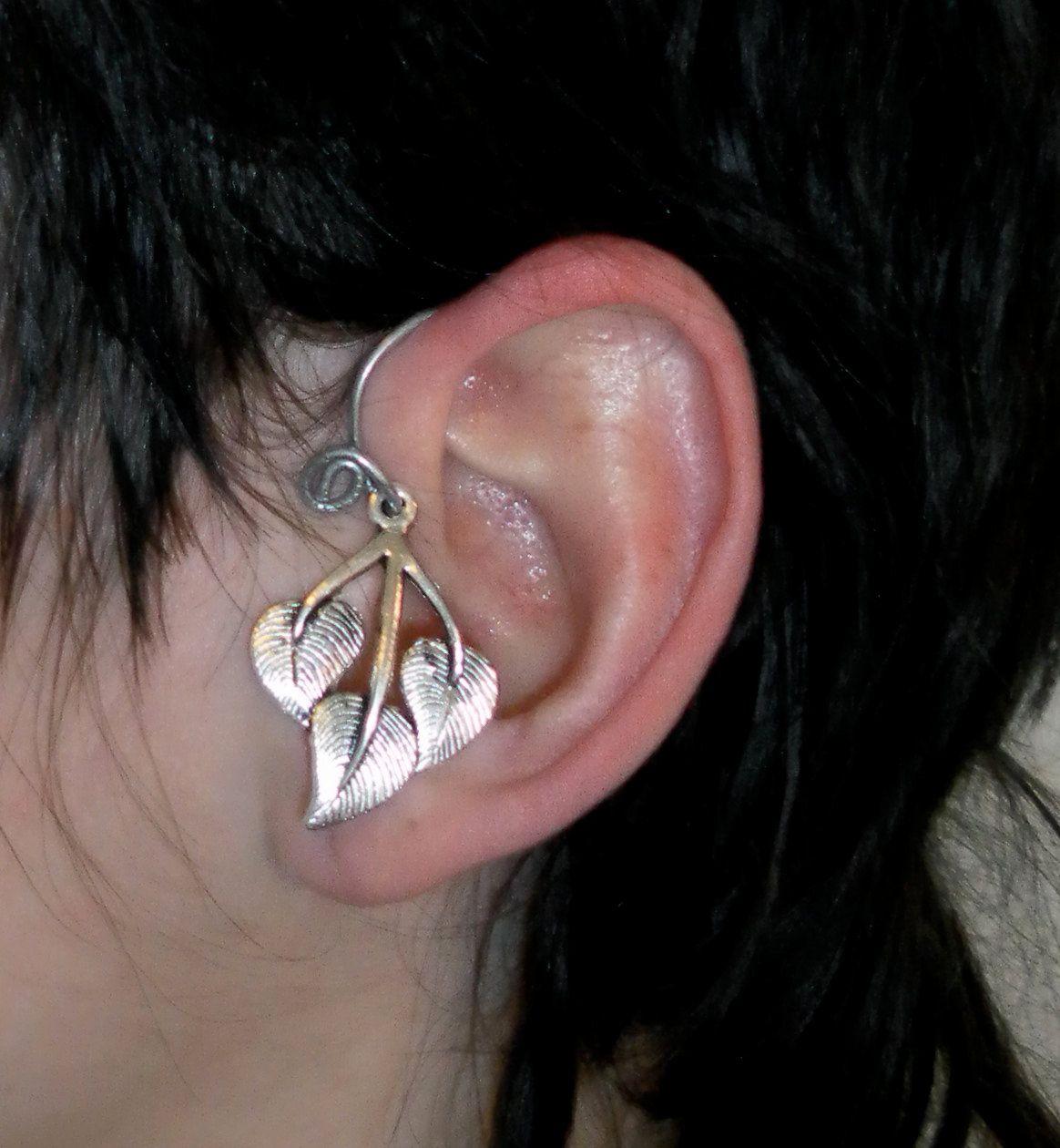 Leaf elven elf ear cuff wrap 750 via etsy jewelry i heart leaf elven elf ear cuff wrap 750 via etsy baditri Choice Image