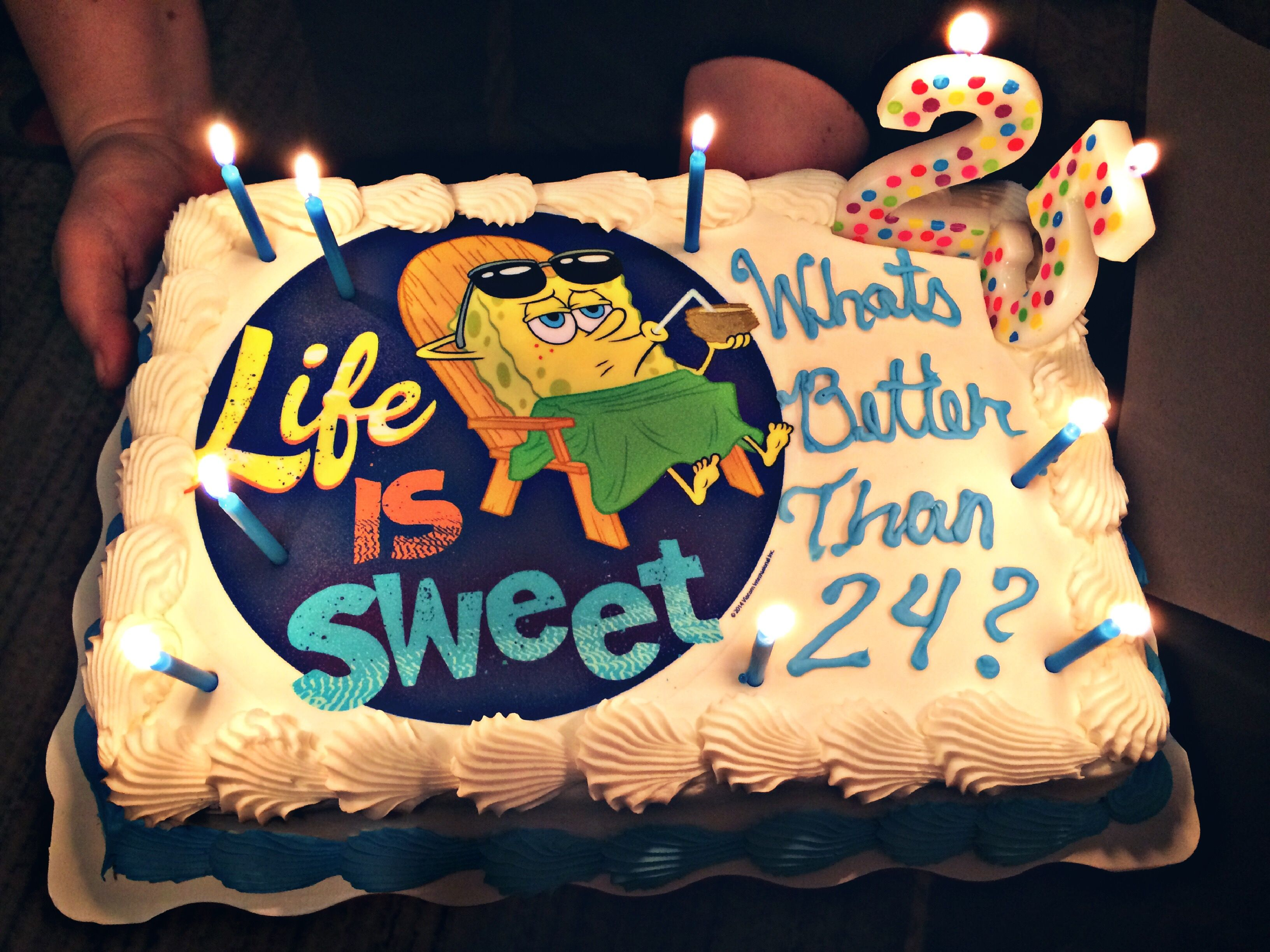 Spongebob Birthday Cake Whats Better Than 24 25th