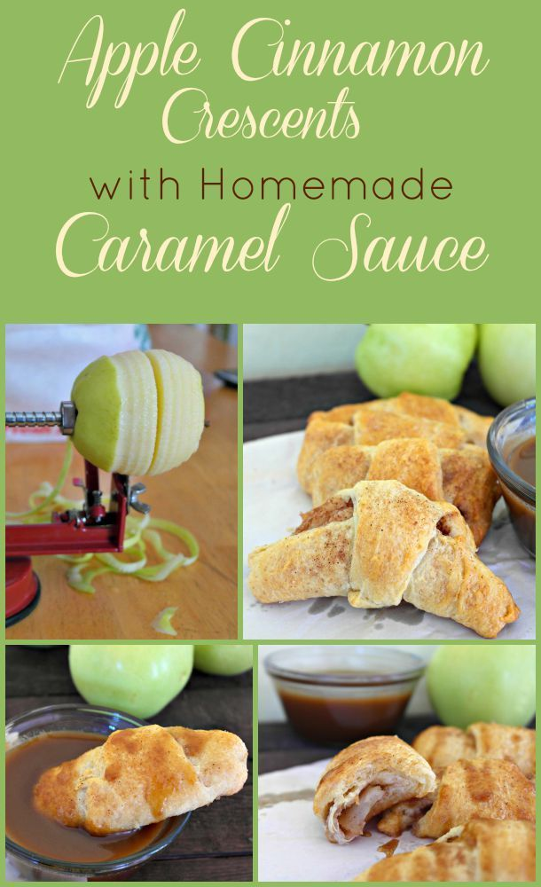 These Apple Cinnamon Crescent Rolls are a perfect semi-homemade treat that includes a delicious homemade caramel sauce.