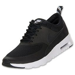 Women's Nike Air Max Thea Running Shoes | FinishLine.com | Black/Geyser Grey