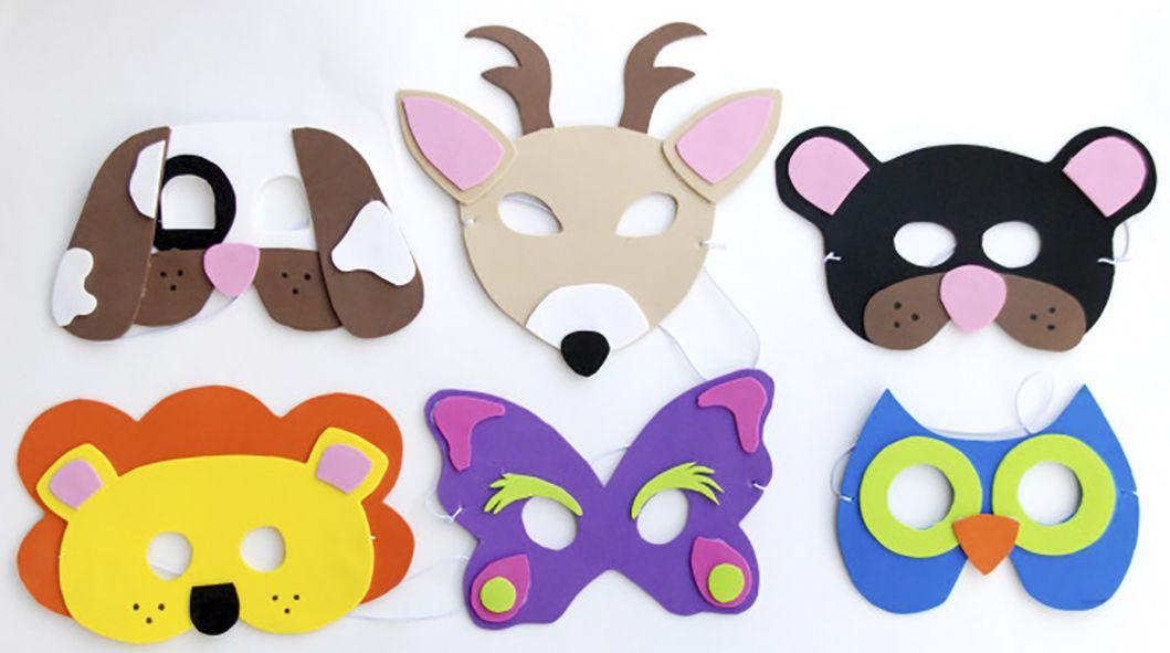 Как сделать маски для детей. Фото. Шаблоны. МК - Своими руками 100