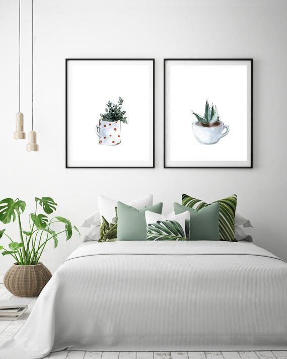 Pflanzen Kunstdrucke Minimalistischen Set 2 Fine Art Drucke