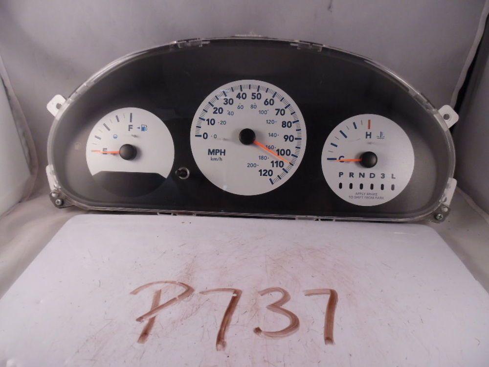 05 Caravan Town Country Speedometer Instrument Gauges Panel 90k