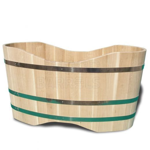 Our Wooden Bathtubs are made of wooden staves glued and bound
