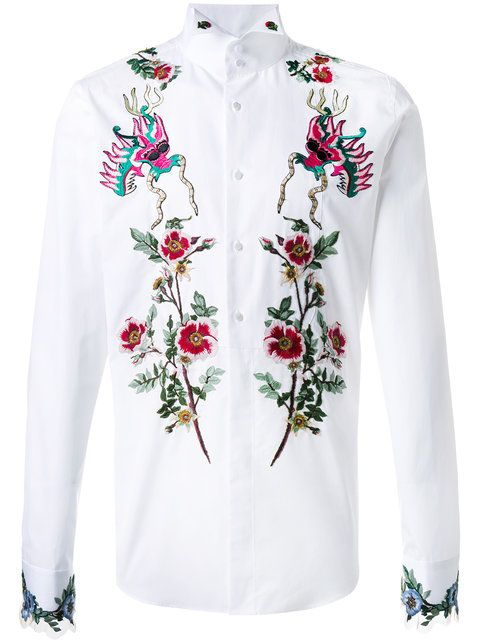 a8a4804dbc9 Shop Gucci embroidered duke shirt. | EMBROIDERY in 2019 | Gucci ...