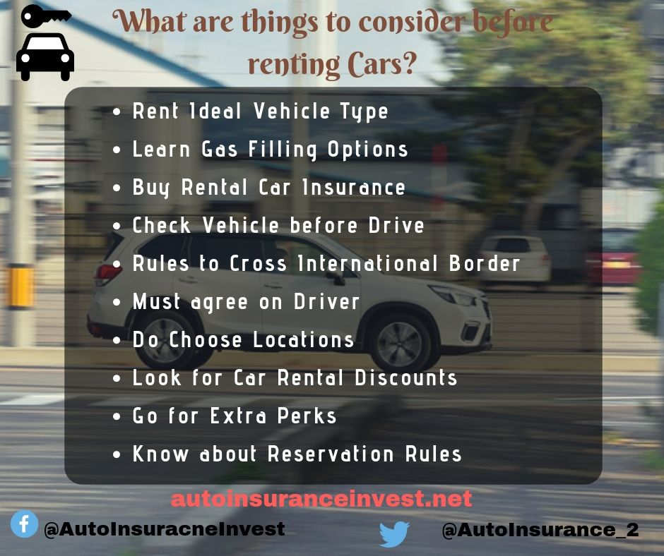 What Are Things To Consider Before Renting Cars Car Insurance